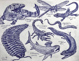 Carboniferous Animals by MickeyRayRex