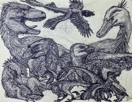 Raptor Family by MickeyRayRex