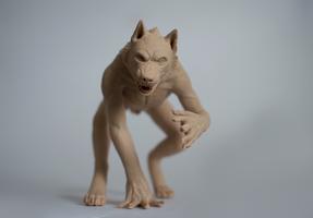 werewolf sculpture unpainted by zersetzen