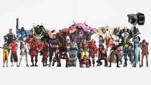 Overwatch and Team Fortress 2 by suijingames