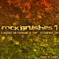 Rock Brushes 1 by AscendedArts