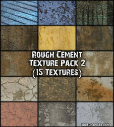 Rough Cement 2 Texture Pack by AscendedArts