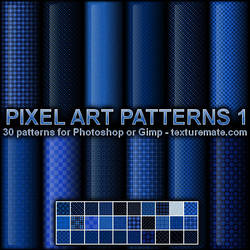 Pixel Art Patterns 1 by AscendedArts
