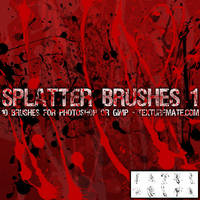 Splatter Brushes 1 by AscendedArts