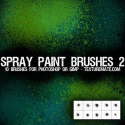 Spray Paint Brushes 2 by AscendedArts