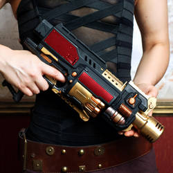Steampunk Weaponry : The Girl, The Guns : 3 by HyperXP