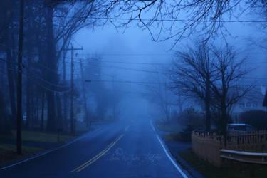 Foggy morning neighborhood by ClaraMcGuireArtistry