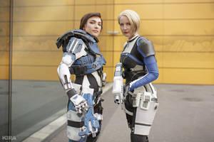 Cora and Sara (Mass Effect Andromeda) by niamash