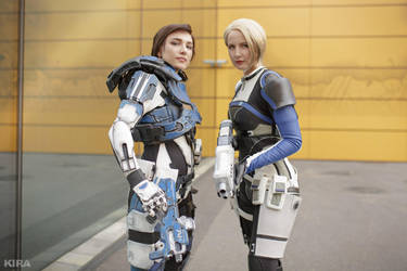 Cora and Sara (Mass Effect Andromeda) by niamash