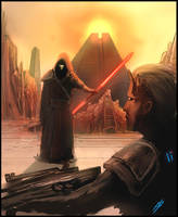 Revan on Korriban by SharpieSchafsta
