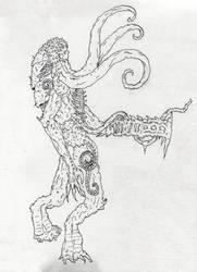 lineart monster by Vargarys