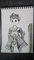 doodle knight by Vargarys