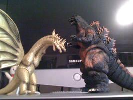 Godzilla And King Ghidorah by Collioni69