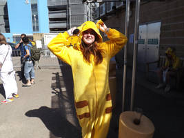 Pikachu Onesie Cosplayer by Collioni69