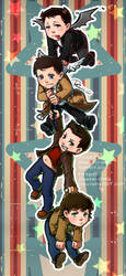 Supernatural_Dean+Sam+Cass+Crowley by pastellZHQ