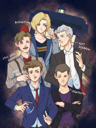 Doctor Who - Five Doctors by pastellZHQ