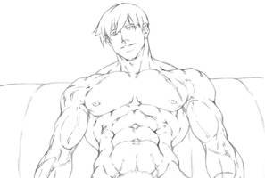 Carl Nadez sketch commish by Sakuseii