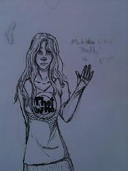 Maddy Ellis (inked) by FantasyMusicWarrior