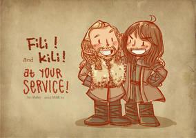 Fili and Kili by haleyhss