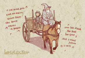 Gandalf and Frodo by haleyhss