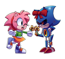 Amy and Metal Christmas by CuteyTCat