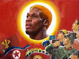 North Korea Dennis Rodman by composera