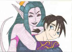 World of Warcraft - Tylaa and Tristan by Tyrannuss555