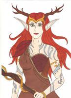 Keyleth - Autumn outfit by Tyrannuss555