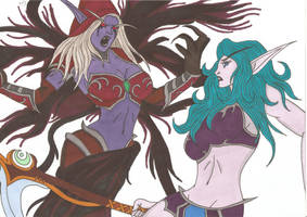 World of Warcraft - Tylaa vs Sylvanas by Tyrannuss555