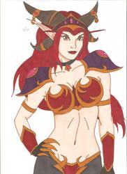 World of Warcraft - Alexstrasza by Tyrannuss555