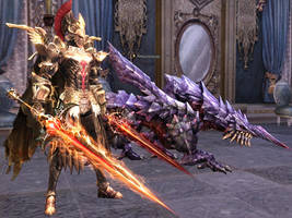 Lineage 2 Cursed Dual Swords by Brownfinger