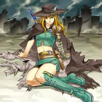 Warrior Lady of the Wasteland by omgitsjohannes
