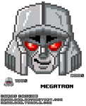Transformers Pixel Heads - Megatron by mrgilder