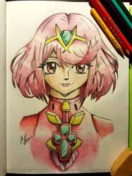 Xenoblade Chronicles 2 Pyra Sketch by mrgilder
