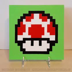 Super Mario Bros. Mushroom Painting by mrgilder