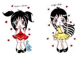 Monica e Magali - hearts by nekobruh