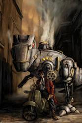 Steampunk Rex by sideache