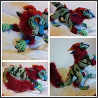 OOAK Posable Dragon Artdoll by SPoppet