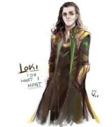 Loki sketch by AlyaW