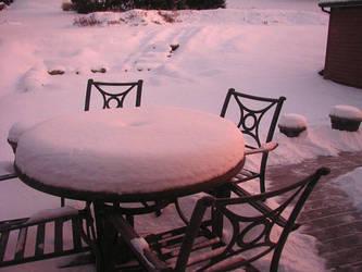 Sunrise Snow III by hotrats51