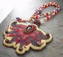 Amethyst Fairy Flower Necklace by elderarc