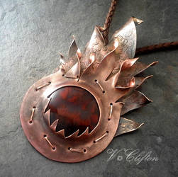 Calcifer in copper and brass by elderarc