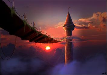 Rapunzel: Through the sky by Vjoe84