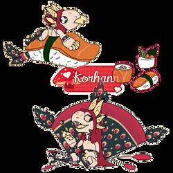 Sushi lover by Korhann