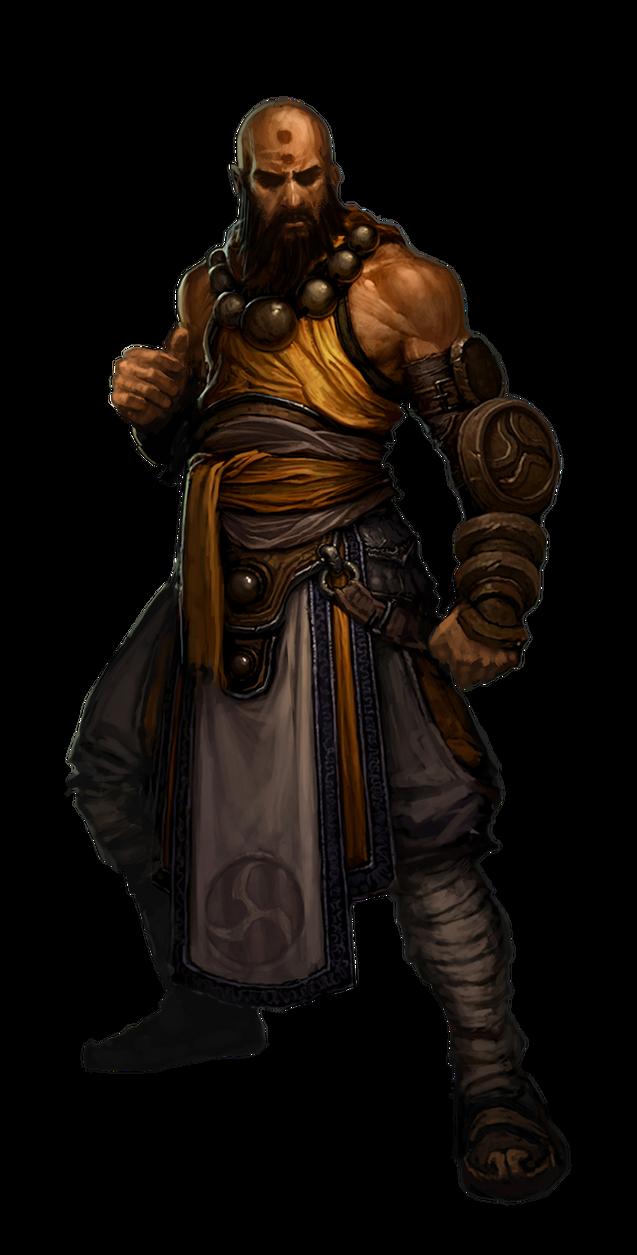 Diablo  Monk Render By Alittleelectro