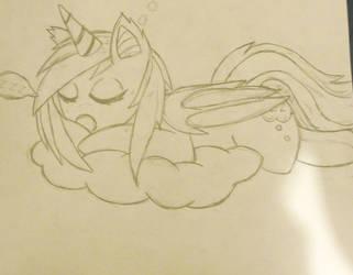 old bat pony drawing by tkn297