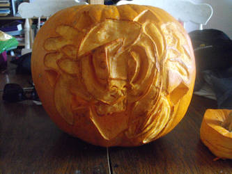 my pumpkin that i had carved this halloween by tkn297