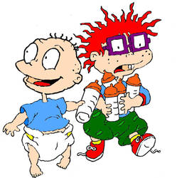 Rugrats Tommy and Chuckie by Rugrats-Club
