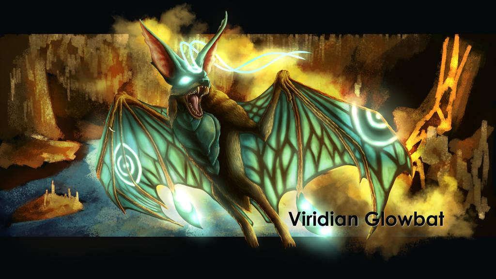 Viridian Glowbat by SolaraEona