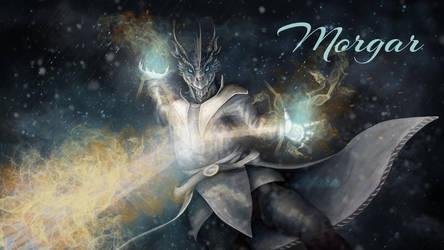 Morgar: Dragonborn Sorcerer by SolaraEona